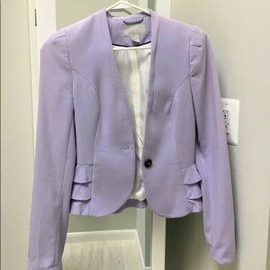 NWOT HM lavender blazer fits 00-2